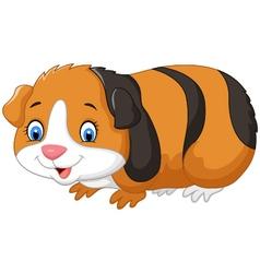 Cartoon cute guinea pig vector