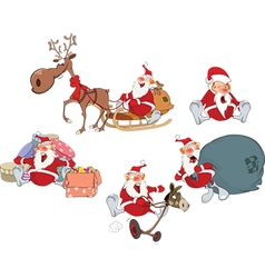 Cartoon of Santa Claus vector