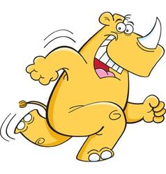 Cartoon Running Rhinoceros vector