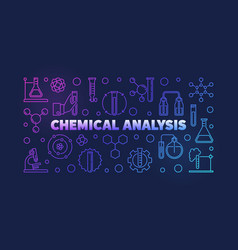 chemical analysis colorful outline vector image