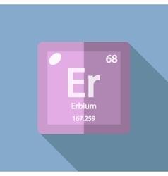 Chemical element Erbium Flat vector image
