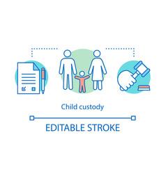 child custody concept icon vector image