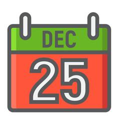 christmas calendar filled outline icon christmas vector image