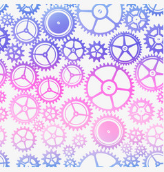 colored gear pattern vector image
