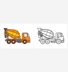 Concrete mixer truck icon cement mixer truck vector