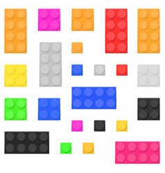 construction toy bricks colored building blocks vector image
