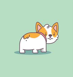 corgi butt cartoon flat character vector image