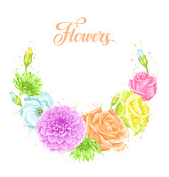 Decorative element with delicate flowers object vector