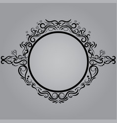 Decorative frame retro frame on gray vector