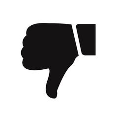 dislike icon vector image