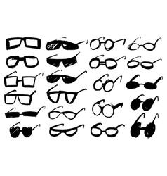 Doodle grunge glasses vector image