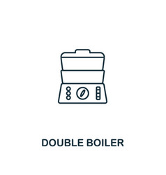 Double boiler icon thin style design from vector