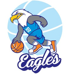 Eagle basketball mascot vector