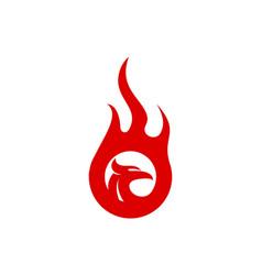 eagle fire abstract logo icon vector image