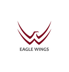 Eagle symbol with stylized wings icon vector