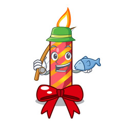 Fishing christmas candle combined with pita vector
