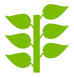 flora plant flat icon vector image