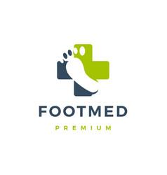 foot medical logo icon vector image