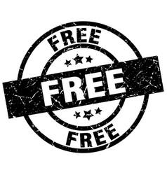 Free round grunge black stamp vector