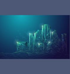 futuristiccity vector image