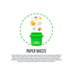 gathering sorting process of garbage vector image