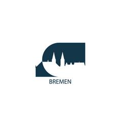 germany bremen skyline vector image