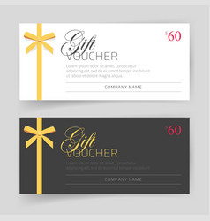 Gift card or voucher template design with vector