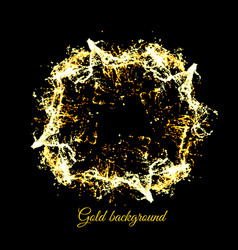 gold sparkles on black background vector image
