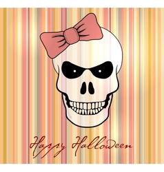 Halloween card background vector image