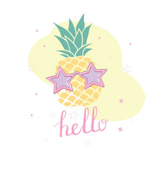 Hand drawing summer card vector