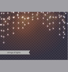 Hanging strings of lights vector