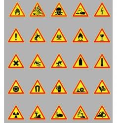 Hazard lights vector