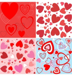 heart seamless wallpaper vector image