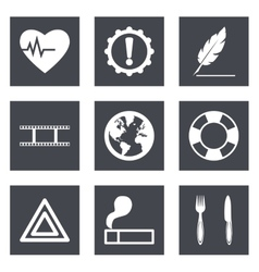 Icons for Web Design and Mobile Applications set 9 vector