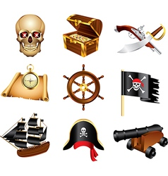 icons pirates vector image