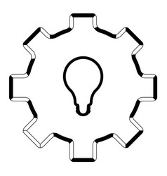isolated gear outline vector image
