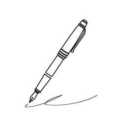 isolated pen icon vector image