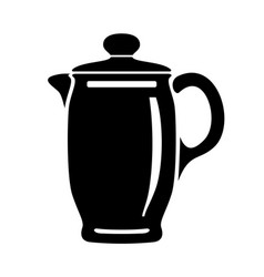 Jug for milk or water canister pitcher logo image vector
