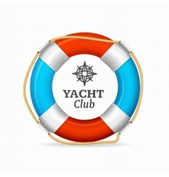 Life buoy yacht club corporate sign concept vector
