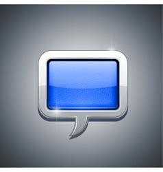 metallic speech bubble vector image