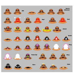 Mole game sprites vector