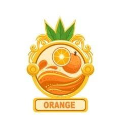 Orange Bright Color Jam Label Sticker Template In vector