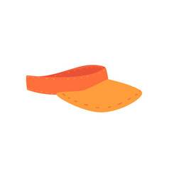 Orange visor cap cartoon vector