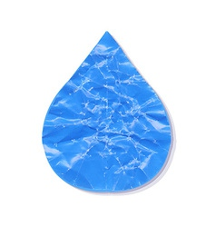 Paper Water Drop vector image