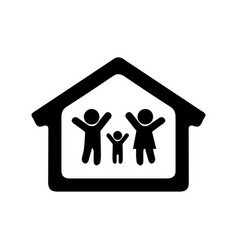 People family icon stay at home vector