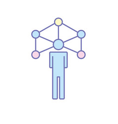 people global connection to social network vector image