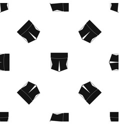 pocket pattern seamless black vector image