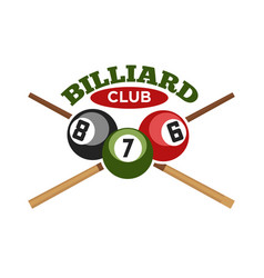 Pool or billiards icons set vector
