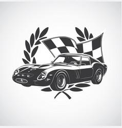 Racing car fer vector