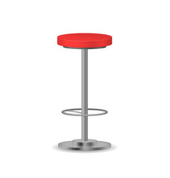 Realistic detailed 3d red modern bar stool vector